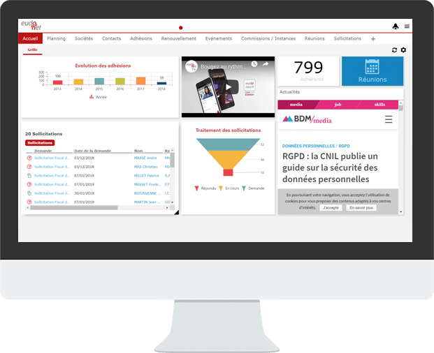 Home Page CRM Asso Pro
