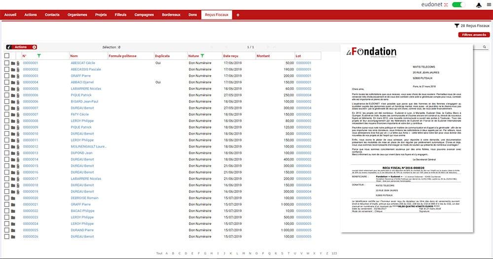 logiciel de gestion de dons et donateurs